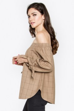 camel-plaid-wool-of-the-shoulder-top-side
