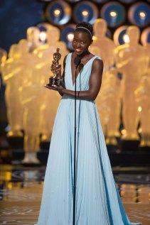 "Lupita Nyong'o accepts the Oscar® for Performance by an actress in a supporting role for her role in ""12 Years a Slave"" during the live ABC Telecast of The Oscars® from the Dolby® Theatre in Hollywood, CA Sunday, March 2, 2014."