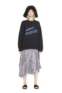Acne Studio Sweatshirt, Creatures of the Wind Skirt, Simone Rocha Sandals