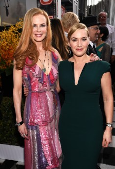 LOS ANGELES, CA - JANUARY 30: Actresses Nicole Kidman (L) and Kate Winslet attend The 22nd Annual Screen Actors Guild Awards at The Shrine Auditorium on January 30, 2016 in Los Angeles, California. 25650_013 (Photo by Dimitrios Kambouris/Getty Images for Turner)