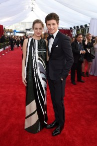 LOS ANGELES, CA - JANUARY 30: Hannah Bagshawe (L) and actor Eddie Redmayne attend The 22nd Annual Screen Actors Guild Awards at The Shrine Auditorium on January 30, 2016 in Los Angeles, California. 25650_014 (Photo by Larry Busacca/Getty Images for Turner)