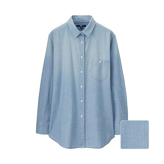 デニムロングシャツ