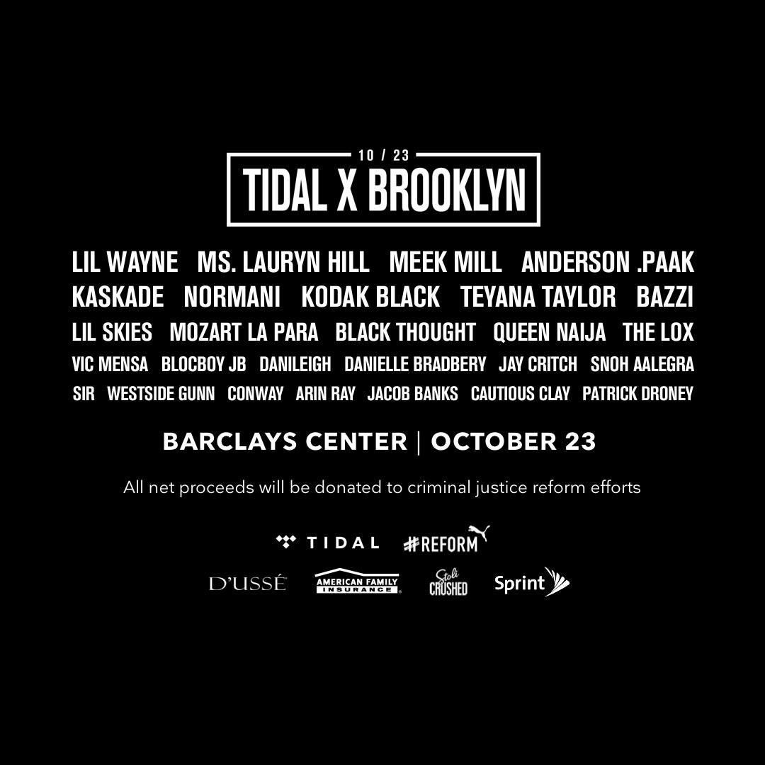 Lil Wayne, Ms. Lauryn Hill i wielu innych na TIDAL X BROOKLYN