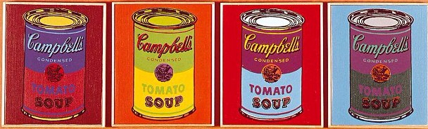 Andy Warhol Cambell´s segmentation version