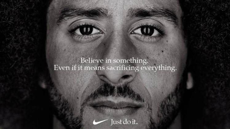 Nike activism fashion retail politics Colin Kaepernick against racism