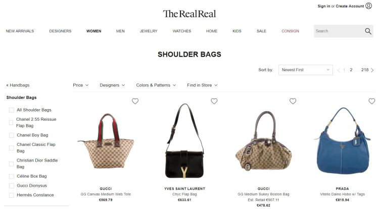 Fashion consignment reuse market TheRealReal Fashion as a Service FaaS