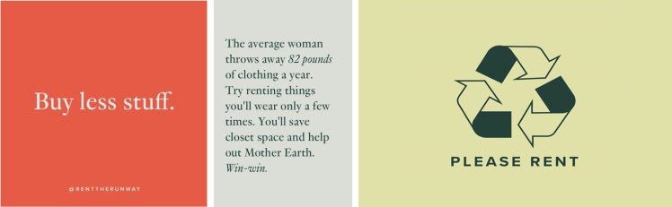 Rent the runway sustainable fashion business model