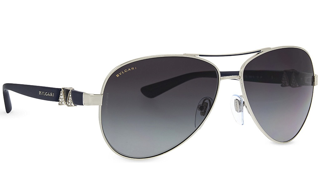 Bvlgari 6080 B Aviator Sunglasses