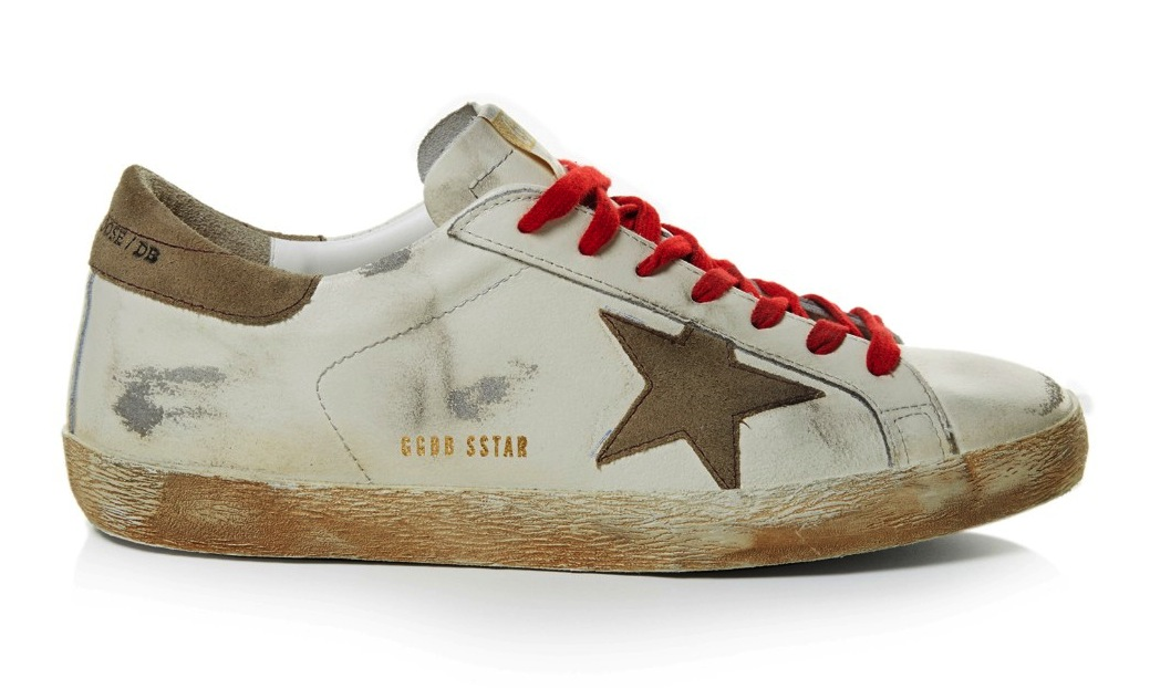Golden Goose Deluxe Brand White Super Star Low Top Leather Sneakers