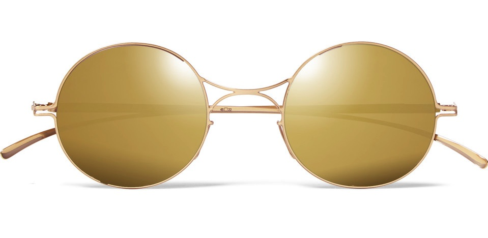 Maison Margiela Mykita Round Frame Metal Mirrored Sunglasses