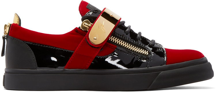 giueseppe_zanotti_ssense_exclusive_red_velour_london_low_top_sneakers