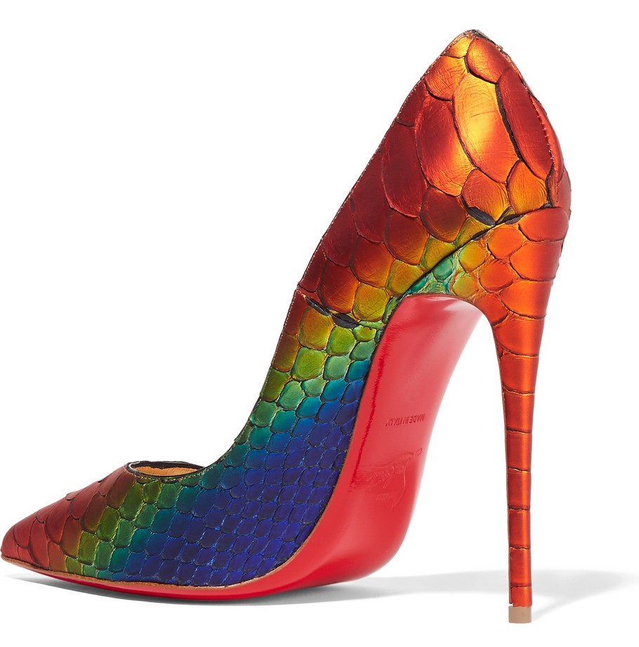 Christian Louboutin Rainbow Python So Kate 120 Pumps 4