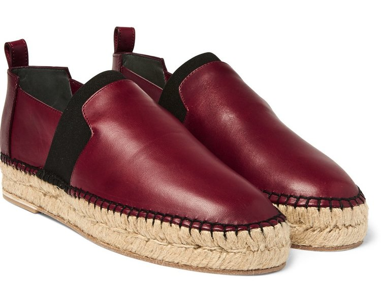 balenciaga_burgundy_leather_espadrilles
