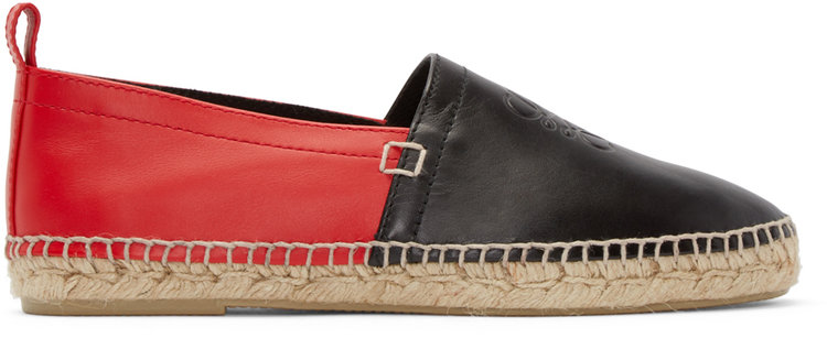 loewe_red_black_leather_logo_espadrilles