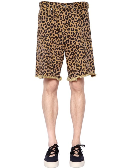 dries_van_noten_leopard_printed_denim_shorts