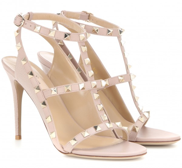 valentino rockstud open toe sandals