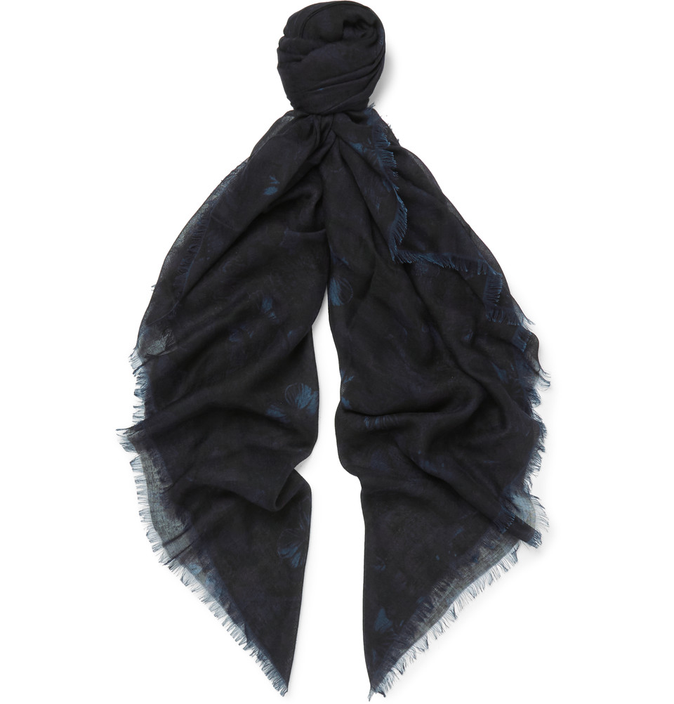Valentino Printed Cashmere And Silk Blend Scarf