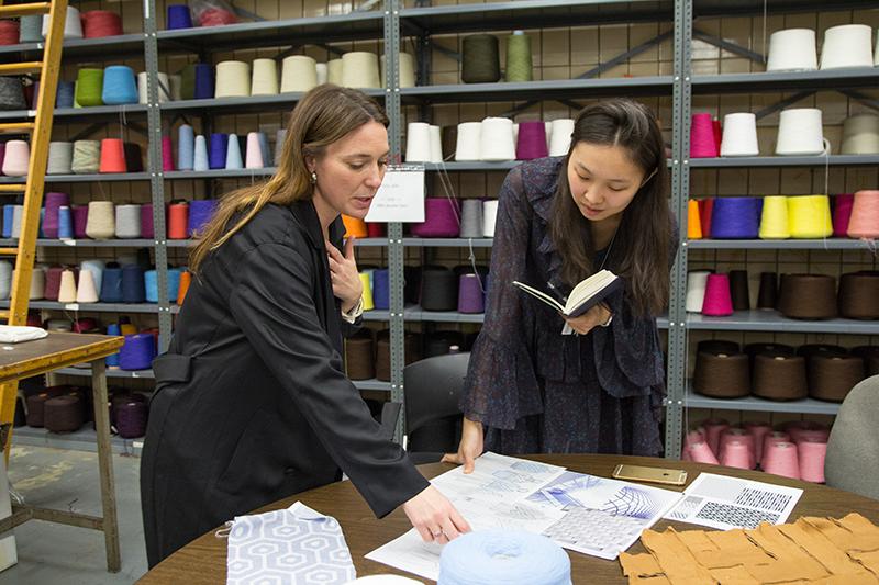 Victoria Lambourne with student