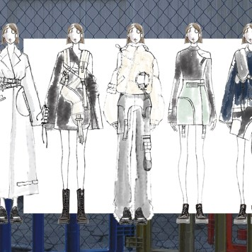 """Thesis Collection design sketches inspired from drama """"Designated Survivor"""" by David Guggenheim"""