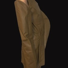 Clay faux asymmetrical, 3D jacket w/matching seamed pant