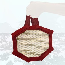 2nd look digital illustration of hand-woven backpack, close up