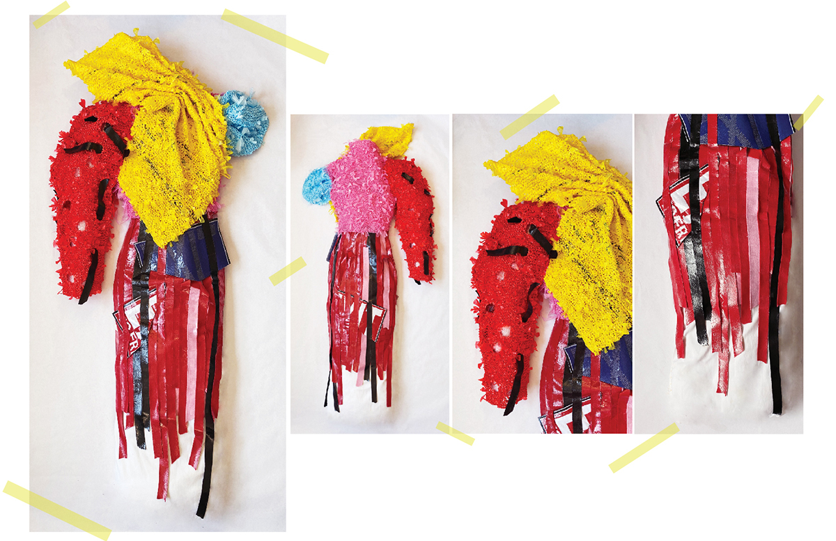 Handknit Sculptural Top Using Plastic Yarn Made From Plastic Bags