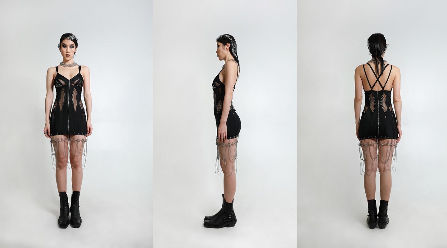 lookbook view: front/side/back