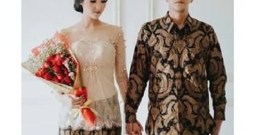 Baju Kebaya Couple Brokat Payet Transparan Soft Nude