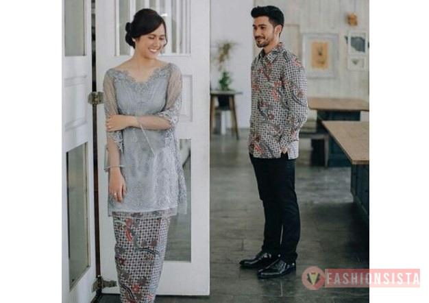 Model Baju Kebaya Couple Panjang Abu Abu Muda Fashionsista Co