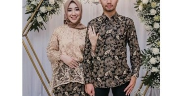 Model Baju Kebaya Couple Panjang Cream Nude