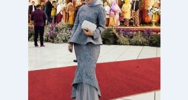 Model Baju Dress Kebaya Brokat Muslim Soft Nude