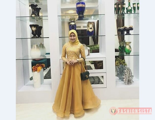 Model Kebaya Modern Bahan Organza Kuning Fashionsista Co Model