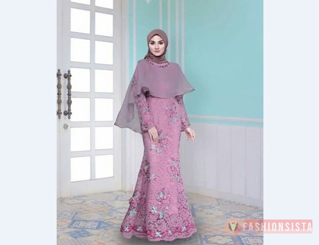 Model Kebaya Muslim Cape Ungu Modern Terbaru Fashionsista Co