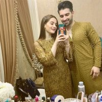 Latest Attractive Hot Pictures of Aiman Khan and Muneeb Butt