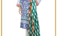 Creasant Summer lawn dress for ladies (4)