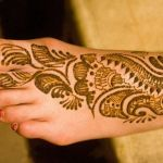 Arabic stylish Foot Mehndi Design