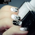 Black and White dotted Nails art for women (2)