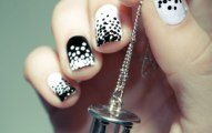 Black and White dotted Nails art for women (3)