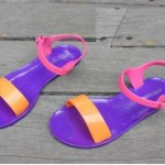 Jelly flats colorful footwear for girls