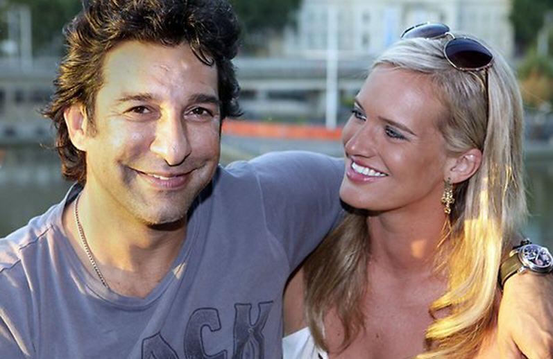 Swing of Sultan Wasim Akram Wedding with australian woman