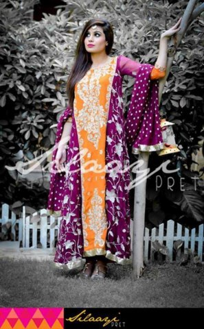 Silaayi Latest Pret Wear Collection 2013 for Women (3)