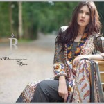 Rabea Designer Embroidered Linen Winter Collection 2013-14 For Women (7)
