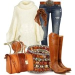 Voguish Polyvore Jackets, jeans, mufflers, shoes