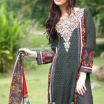 Rabea Linen Women Winter Khaddar Collection 2013-14 by Shariq Textiles