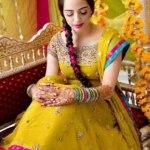 Bridal Mehndi Wedding Waleema Multi Colored Dresses 2014 (14)