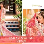 Ladies summer lawn Faraz Manan Crescent Collection