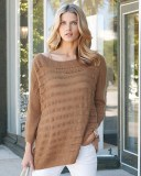 Cashmere Open Knit Sweater