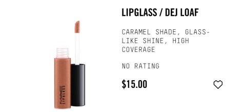 Dej Load Mac Lip Glass