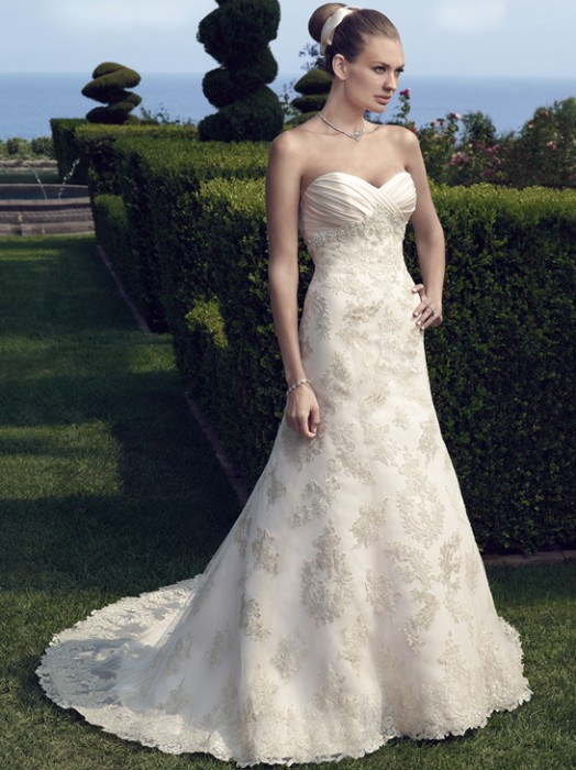 Line Embellished Soft Lace Sweetheart Neckline Tulle And Wedding And Dress Flare Fit