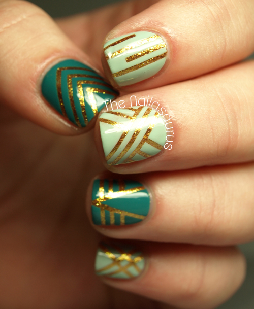 17 Perfect Nail Designs With Striping Tape